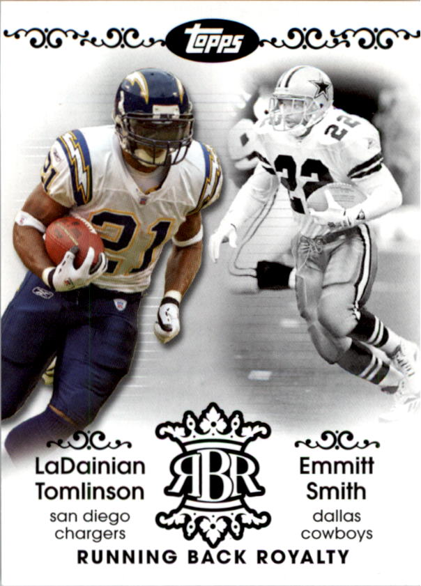 2007 Topps Running Back Royalty #TSM LaDainian Tomlinson/Emmitt Smith