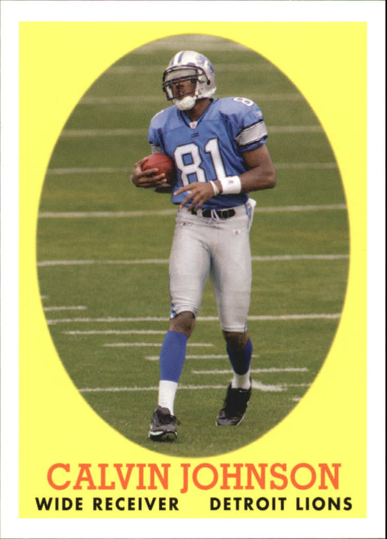 2007 Topps Turn Back The Clock #8 Calvin Johnson