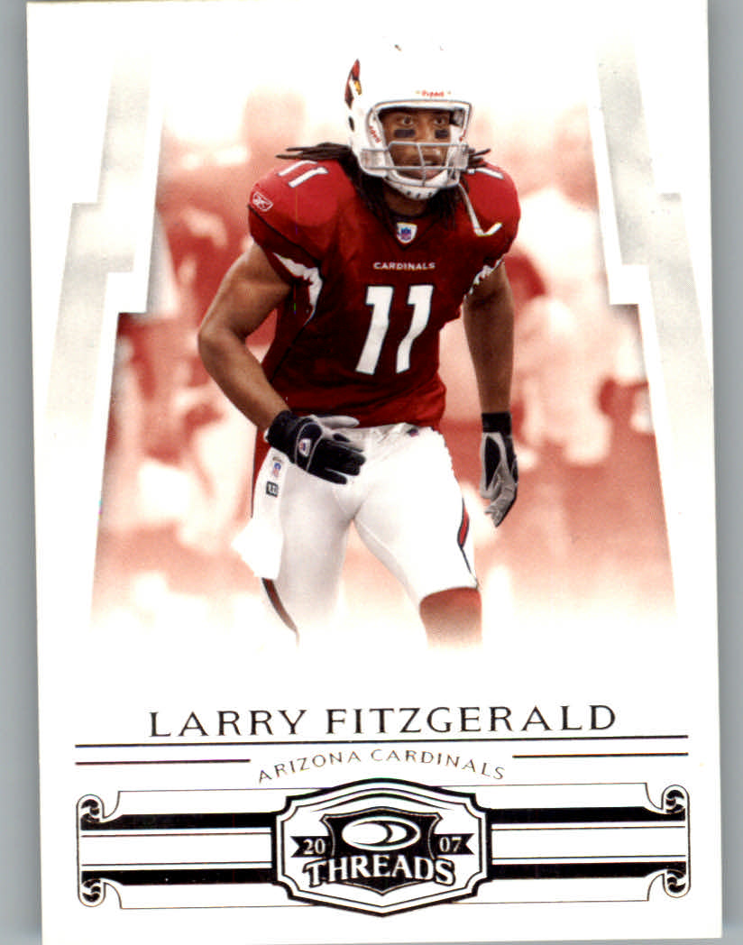 2007 Donruss Threads #2 Larry Fitzgerald