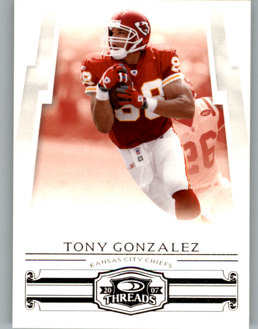 2007 Donruss Threads #22 Tony Gonzalez