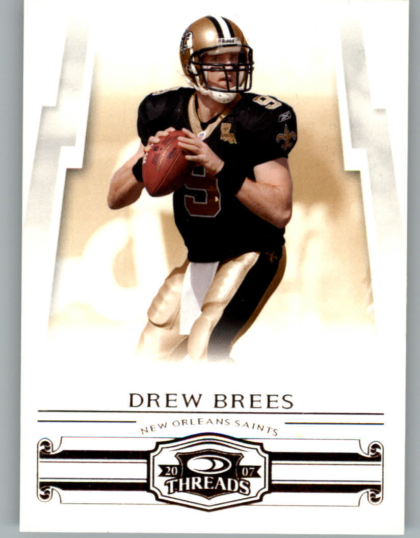 2007 Donruss Threads #29 Drew Brees