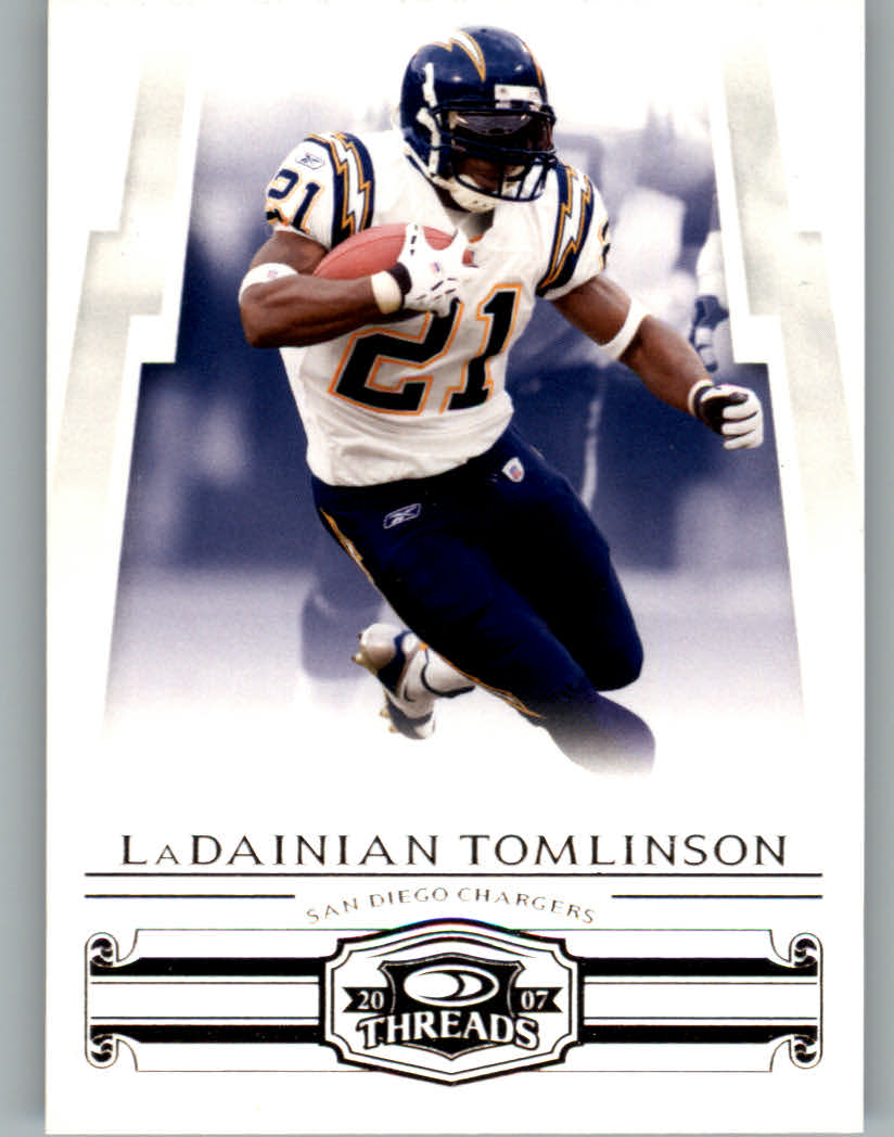 2007 Donruss Threads #41 LaDainian Tomlinson