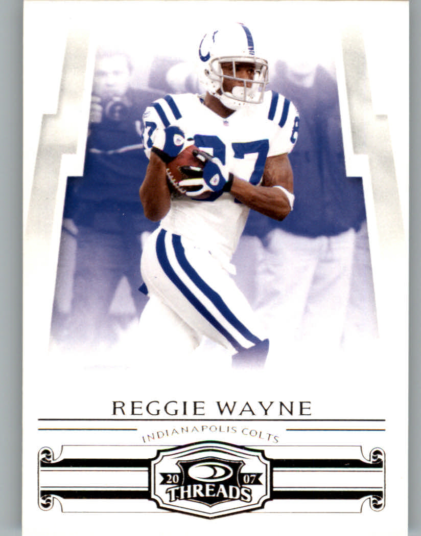 2007 Donruss Threads #91 Reggie Wayne