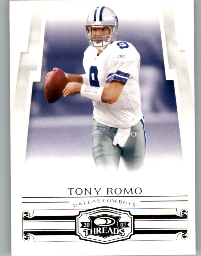 2007 Donruss Threads #96 Tony Romo