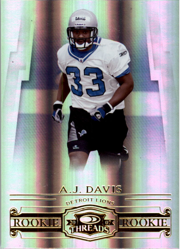 2007 Donruss Threads #181 A.J. Davis RC