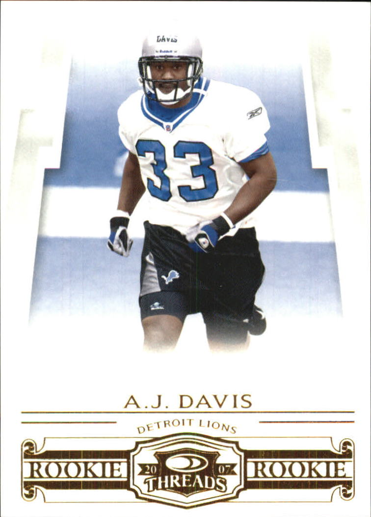 2007 Donruss Threads Retail Rookies #181 A.J. Davis RC