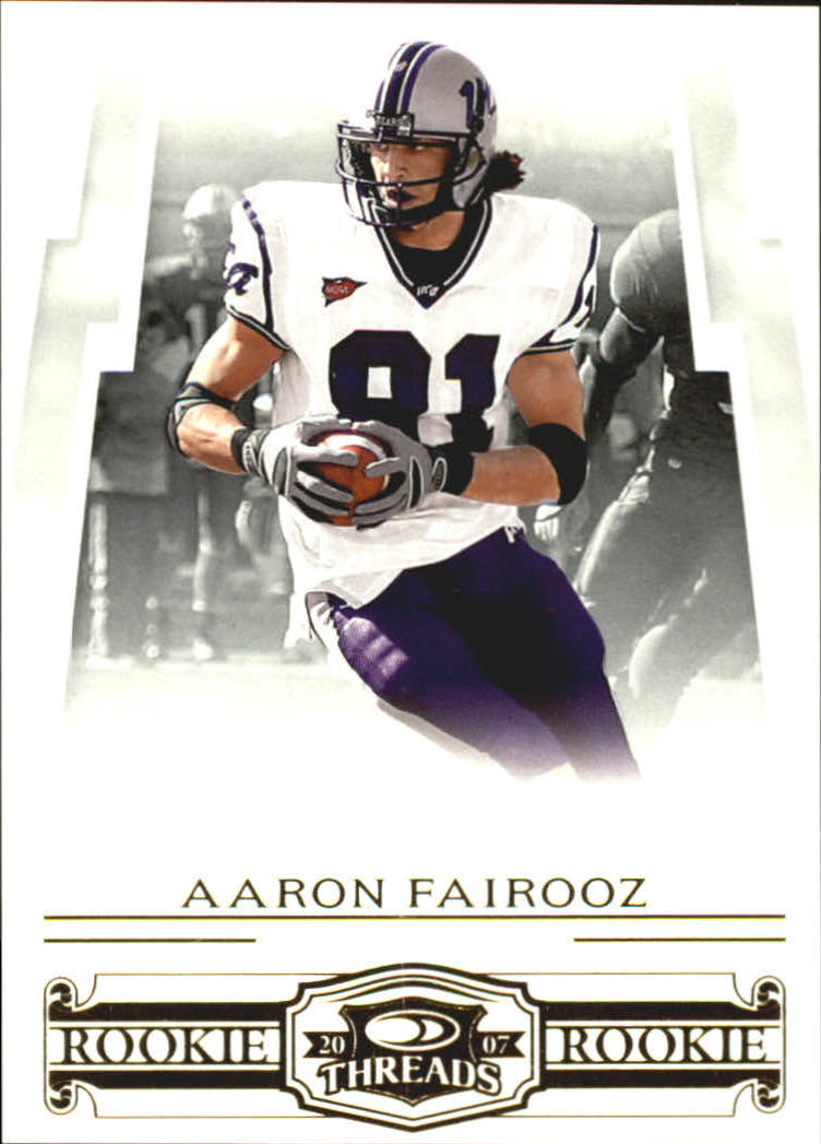 2007 Donruss Threads Retail Rookies #209 Aaron Fairooz RC