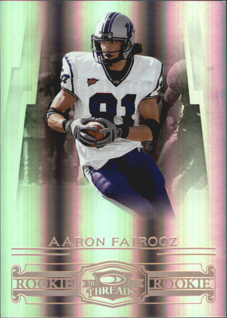 2007 Donruss Threads Bronze Holofoil #209 Aaron Fairooz