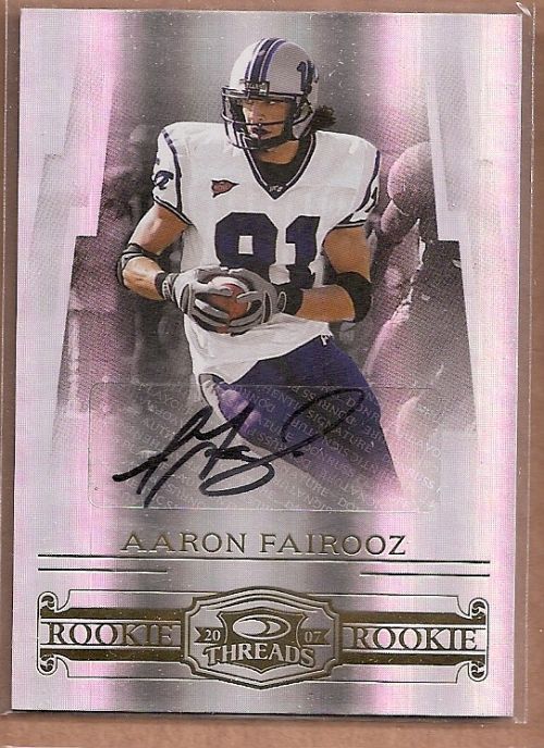 2007 Donruss Threads Rookie Autographs #209 Aaron Fairooz/250