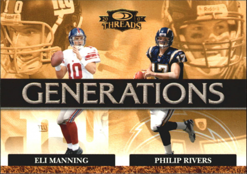 2007 Donruss Threads Generations Gold #14 Eli Manning/Philip Rivers