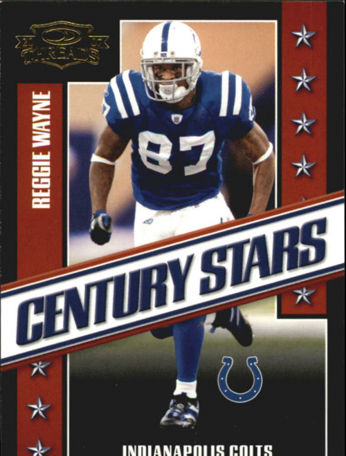 2007 Donruss Threads Century Stars Gold #5 Reggie Wayne
