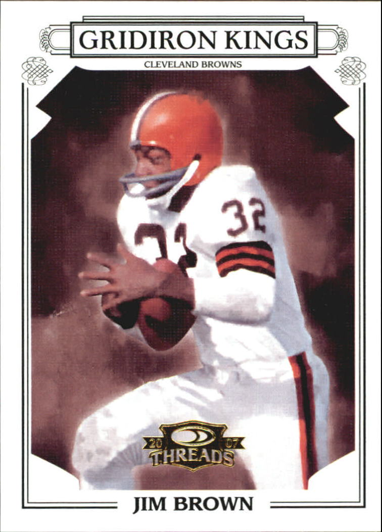2007 Donruss Threads Pro Gridiron Kings Gold #54 Jim Brown