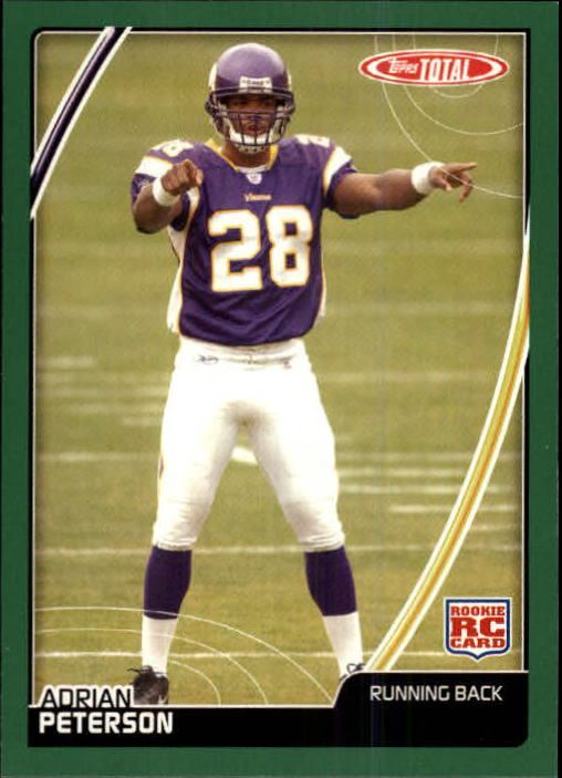 2007 Topps Total #456 Adrian Peterson RC