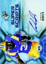 2007 SPx Super Scripts Autographs #SSCD Craig Buster Davis