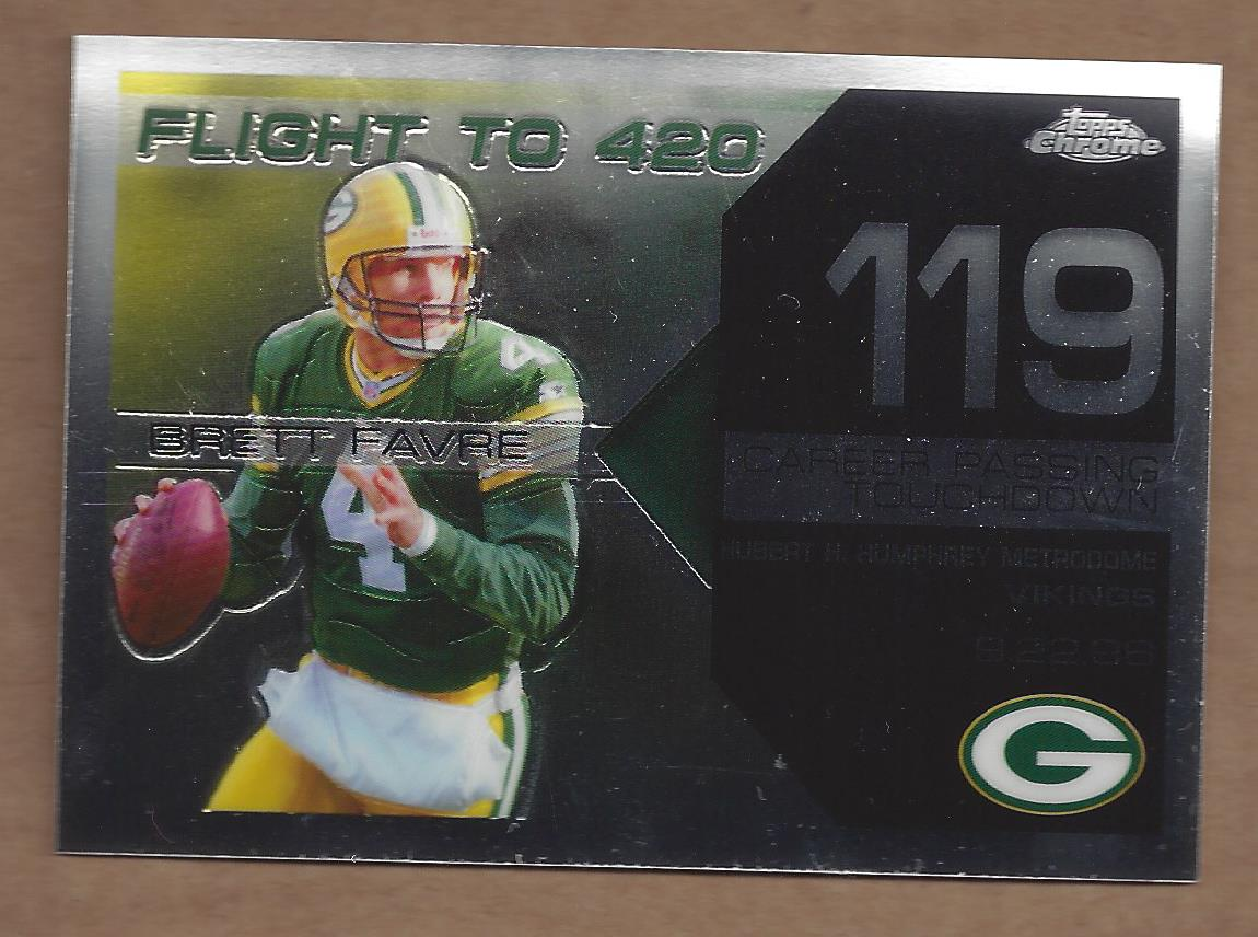 2007 Topps Chrome Brett Favre Collection #BF119 Brett Favre