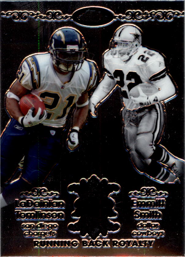 2007 Topps Chrome Running Back Royalty #TSM LaDainian Tomlinson/Emmitt Smith