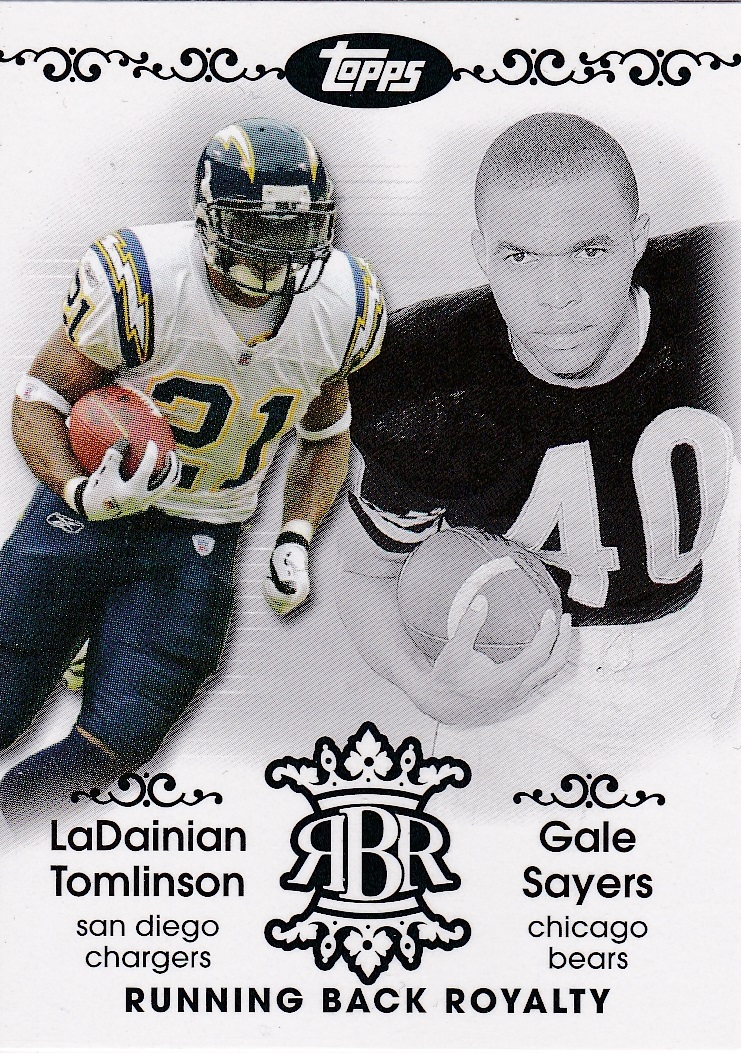 2007 Topps Chrome Running Back Royalty #TSA LaDainian Tomlinson/Gale Sayers