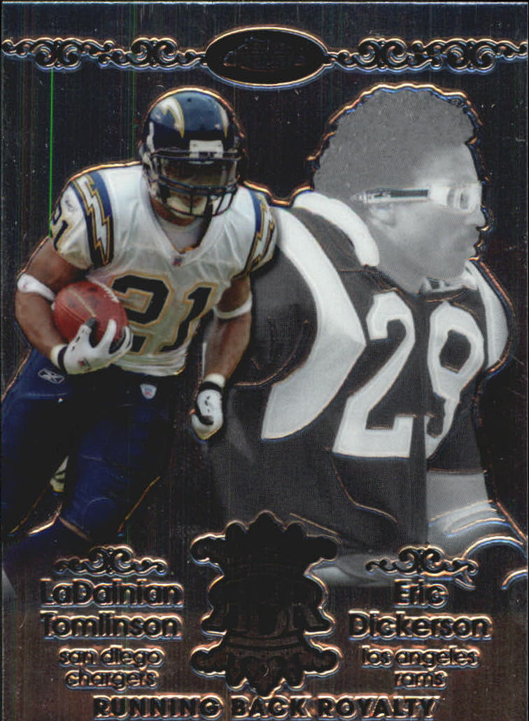 2007 Topps Chrome Running Back Royalty #TD LaDainian Tomlinson/Eric Dickerson