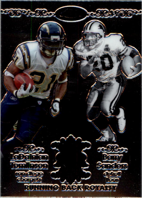 2007 Topps Chrome Running Back Royalty #TS LaDainian Tomlinson/Barry Sanders