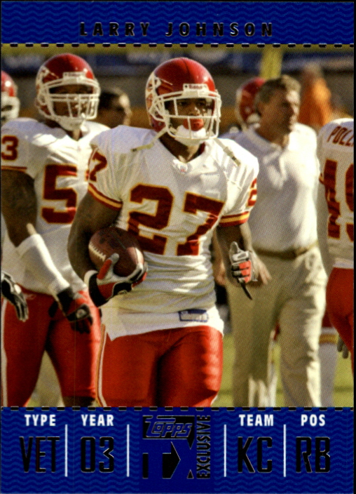 2007 Topps TX Exclusive #26 Larry Johnson