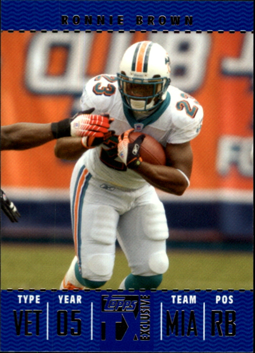 2007 Topps TX Exclusive #39 Ronnie Brown