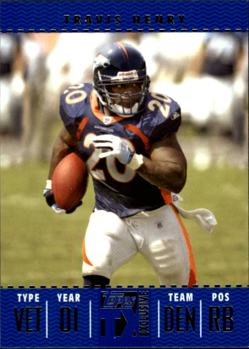 2007 Topps TX Exclusive #40 Travis Henry