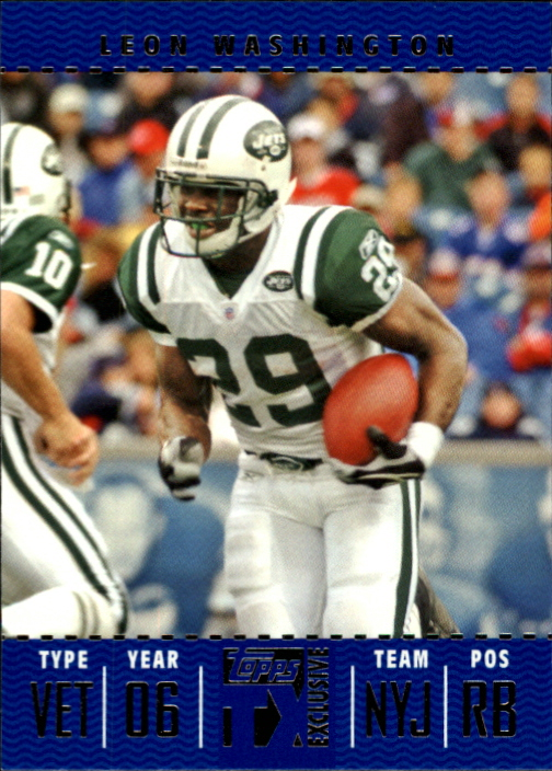 2007 Topps TX Exclusive #57 Leon Washington