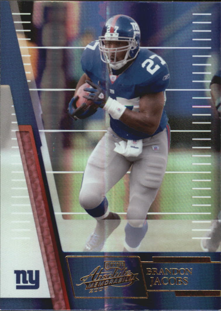 2007 Absolute Memorabilia #10 Brandon Jacobs