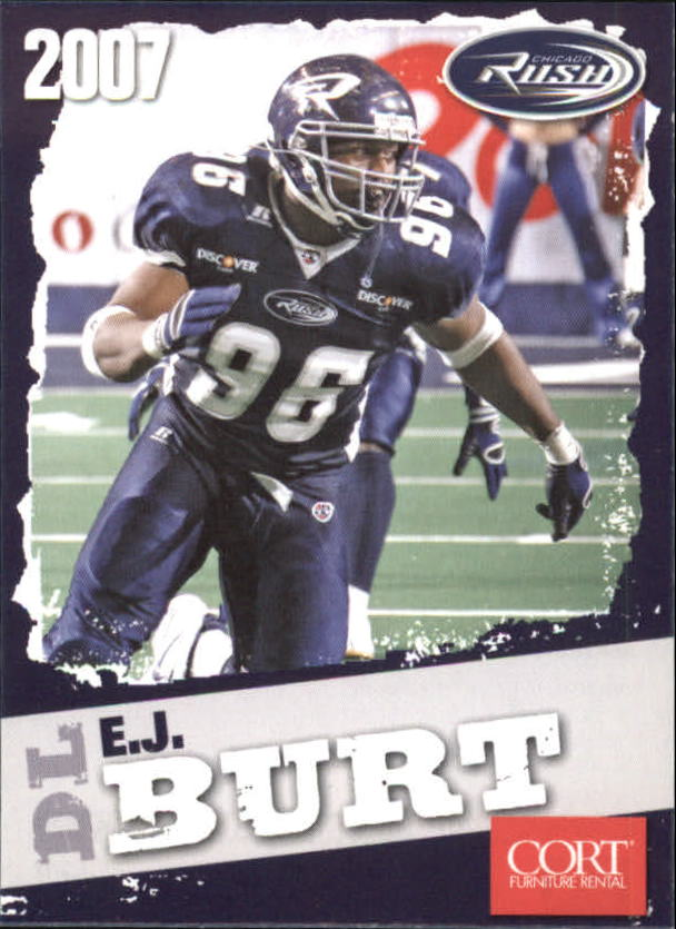 2007 Chicago Rush AFL #25 E.J. Burt