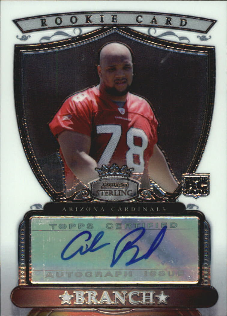2007 Bowman Sterling #ABR Alan Branch AU RC