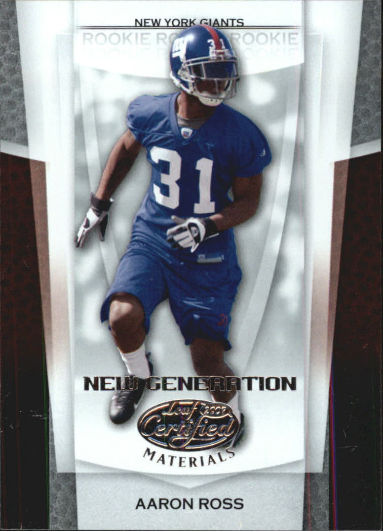 2007 Leaf Certified Materials #151 Aaron Ross RC