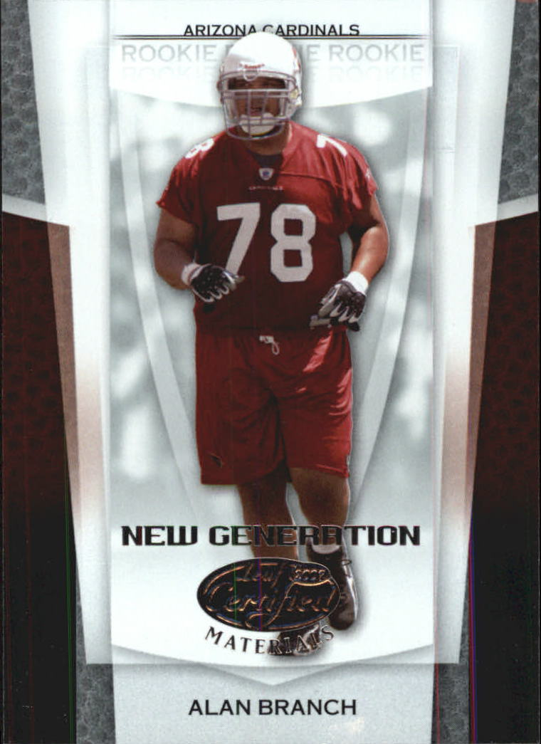 2007 Leaf Certified Materials #154 Alan Branch RC