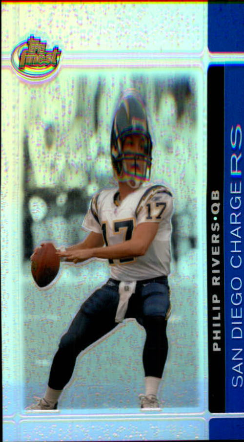 2007 Finest Blue Refractors #7 Philip Rivers