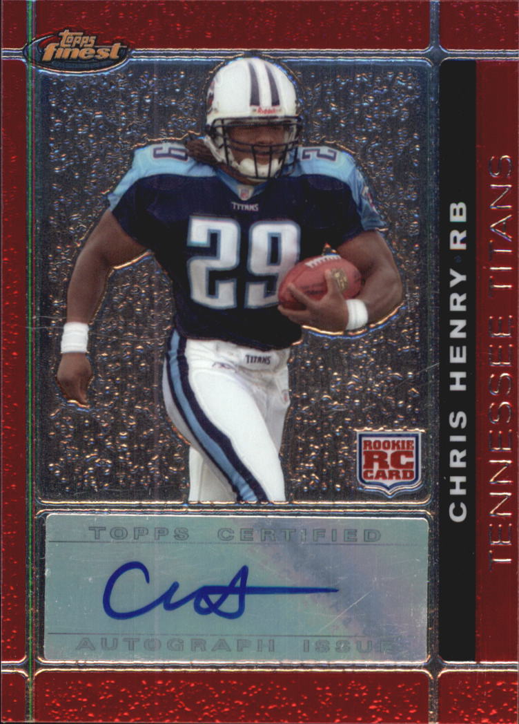 2007 Finest Rookie Autographs #122 Chris Henry RB H
