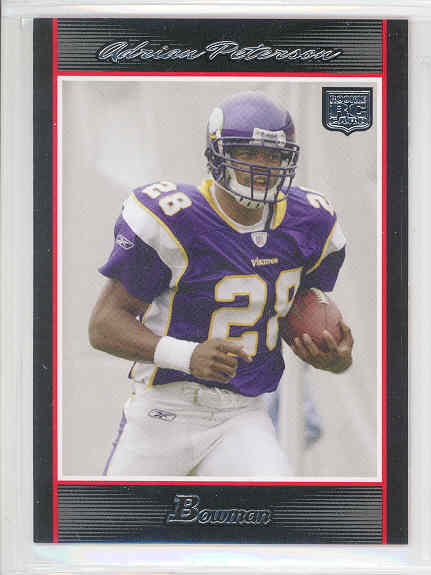 2007 Bowman #126 Adrian Peterson RC