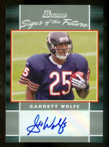 2007 Bowman Signs of the Future #SFGW Garrett Wolfe D