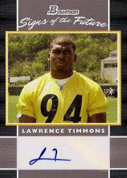 2007 Bowman Signs of the Future #SFLT Lawrence Timmons F
