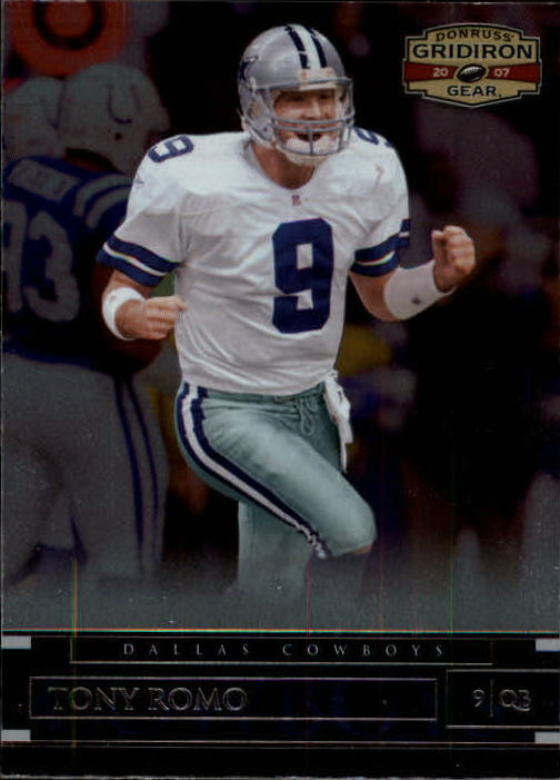 2007 Donruss Gridiron Gear #1 Tony Romo