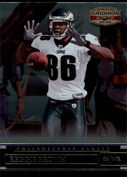 2007 Donruss Gridiron Gear #10 Reggie Brown