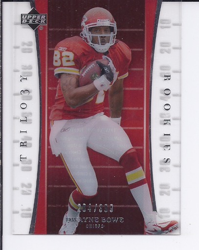 2007 Upper Deck Trilogy #110 Dwayne Bowe RC