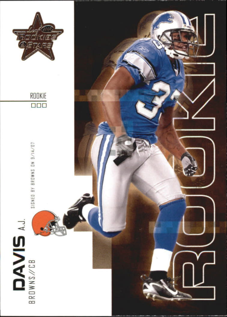 2007 Leaf Rookies and Stars #116 A.J. Davis RC