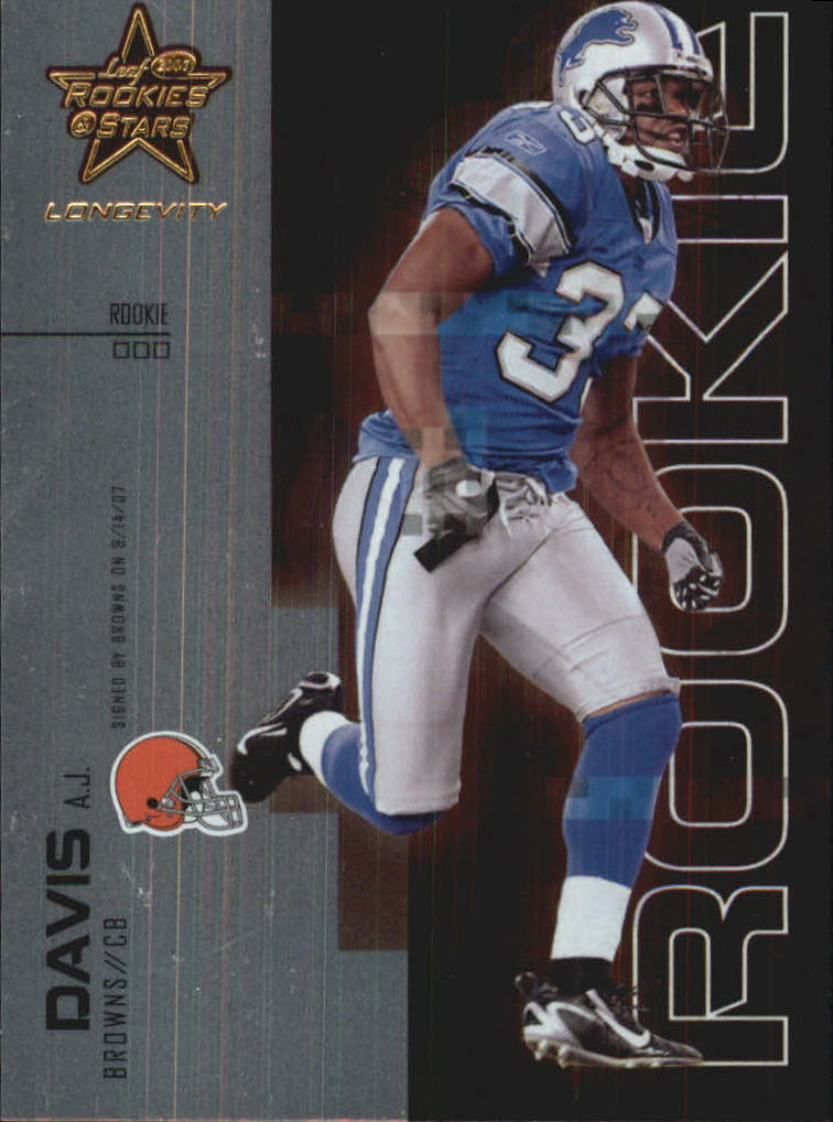 2007 Leaf Rookies and Stars Longevity #116 A.J. Davis RC
