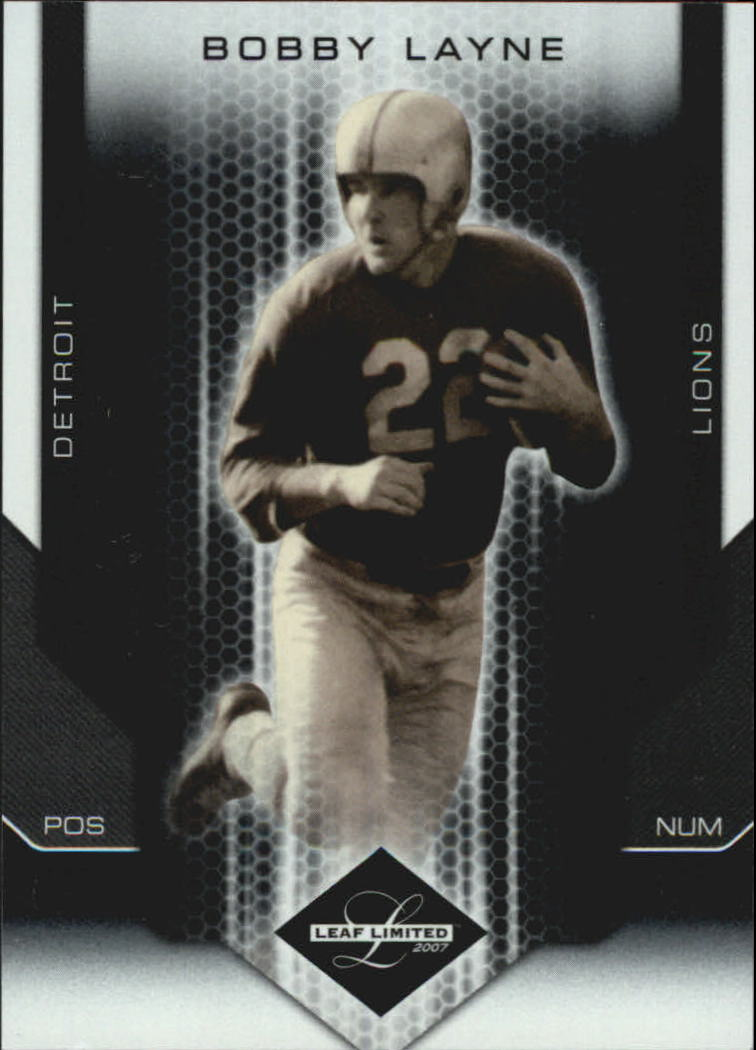 2007 Leaf Limited #107 Bobby Layne