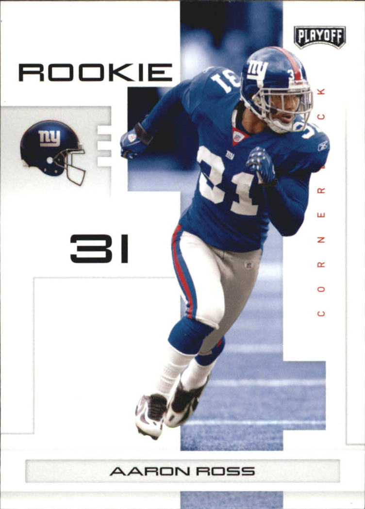 2007 Playoff NFL Playoffs #144 Aaron Ross RC