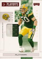 2007 Playoff NFL Playoffs Materials Red Prime #38 A.J. Hawk