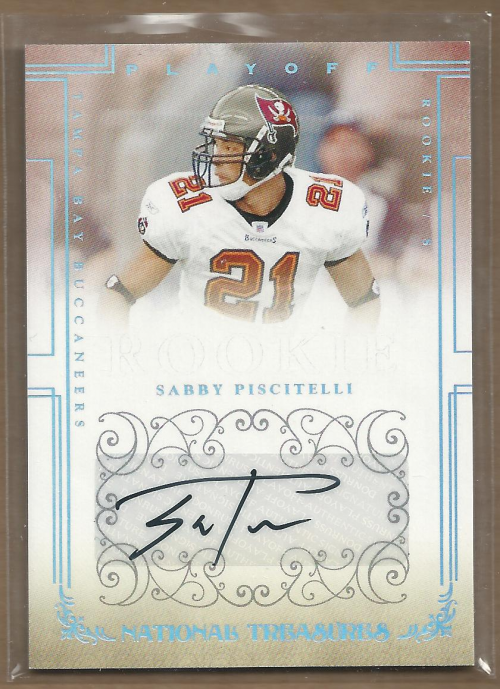 2007 Playoff National Treasures #187 Sabby Piscitelli AU/299 RC