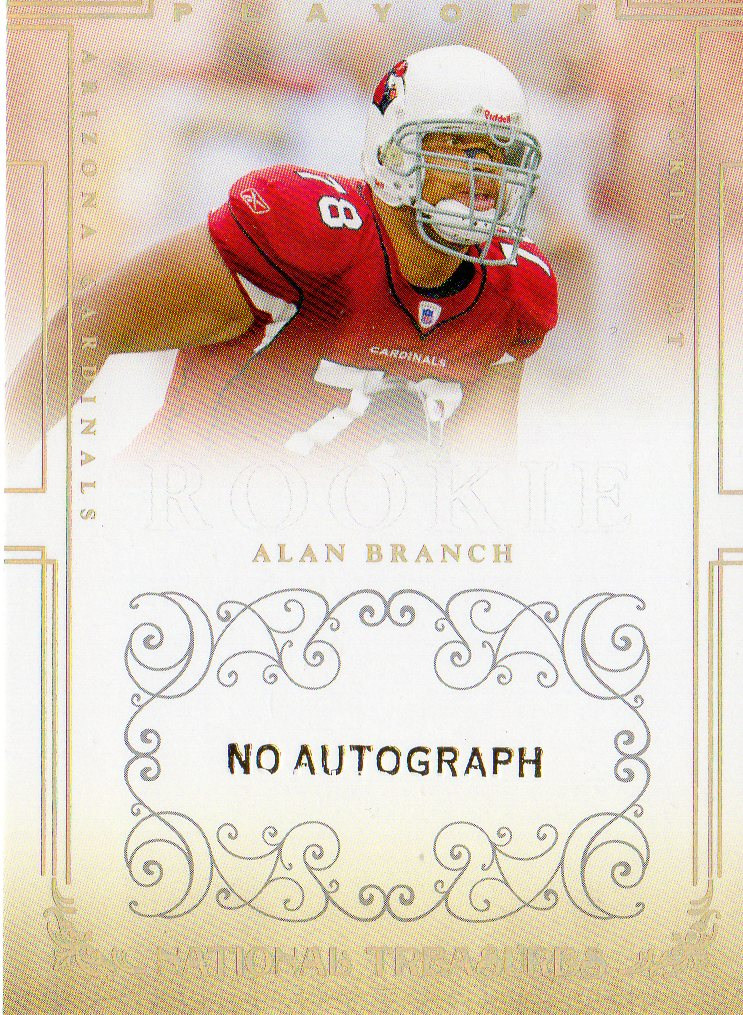 2007 Playoff National Treasures #194 Alan Branch No AU RC
