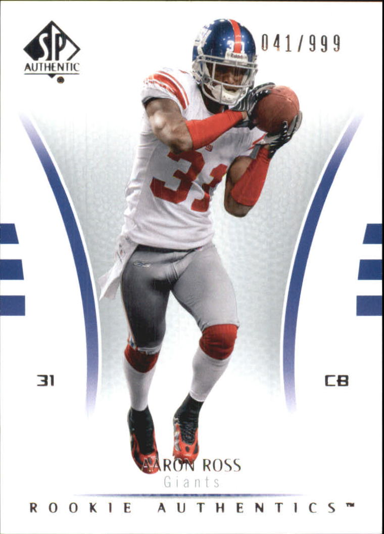 2007 SP Authentic #164 Aaron Ross RC
