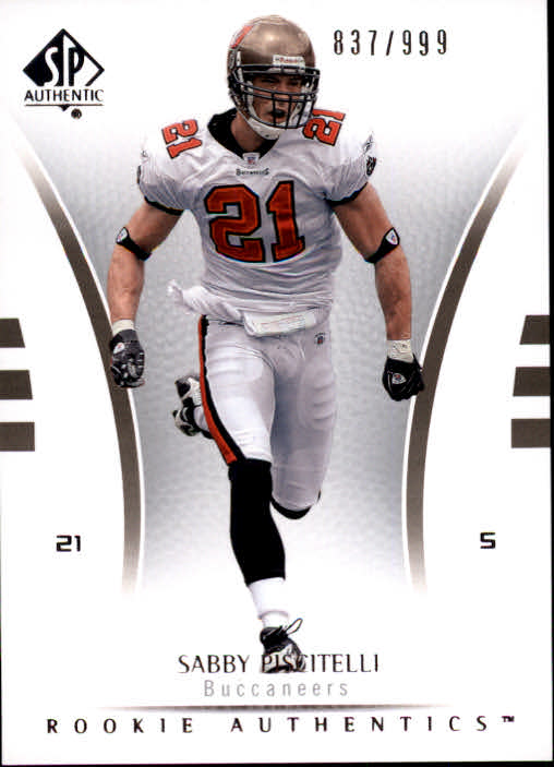 2007 SP Authentic #184 Sabby Piscitelli RC