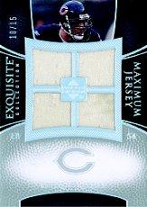 2007 Exquisite Collection Maximum Jersey Silver Spectrum #BU Brian Urlacher